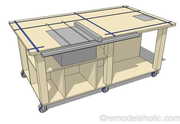 Table Saw Workbench Woodworking Plan