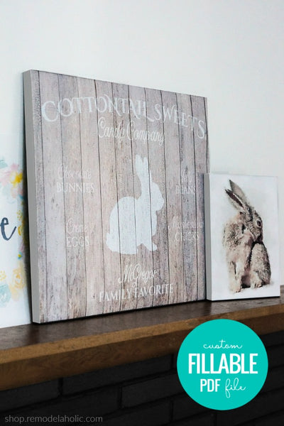Personalized Easter Bunny Printable Art BUNDLE for Spring