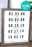 What a difference a day makes - custom personalized date art printable for anniversaries, birthdays, mother's day