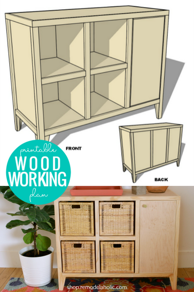 DIY Entry Table with Cubby Storage Woodworking Plan