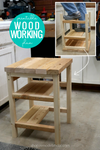 Hoosier Step Stool: Flip-Over 2x4 Bar Stool Step Ladder Woodworking Plan