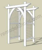 Gothic Arch Garden Arbor and Trellis for Vegetables or Flowers