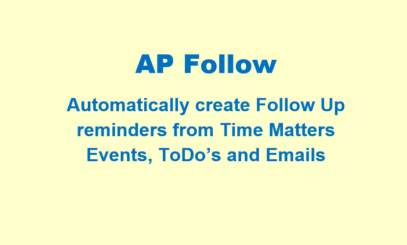 AP Follow for Time Matters