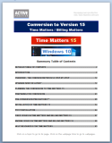 Conversion to Version 15 - Time Matters Guide