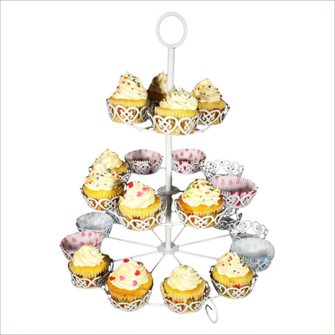 24 Piece Cupcake Stand in White