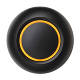 Black doorbell button with amber illumination True by Spore