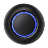 Black door bell button with blue illumination True by Spore