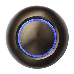 True Doorbell Button | Bronze, Blue Illumination