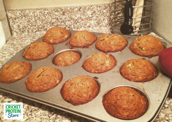 Banana Bread Muffins with Cricket Flour