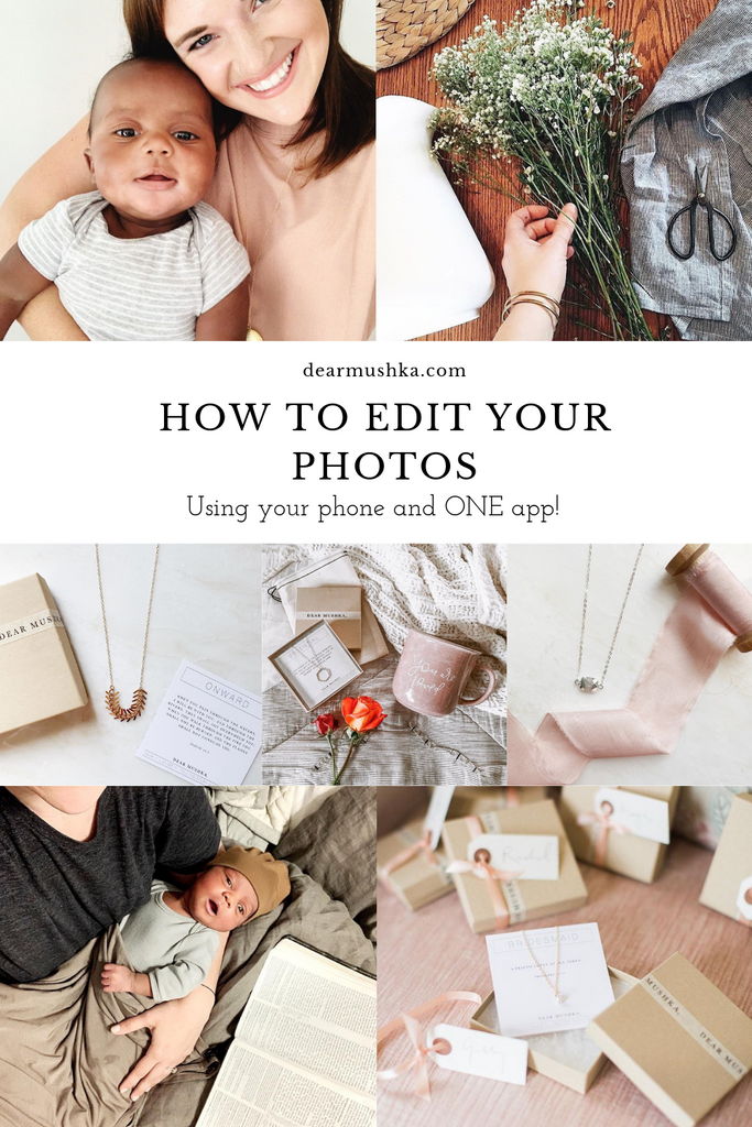How To Edit Your Own Photos for Online Shops