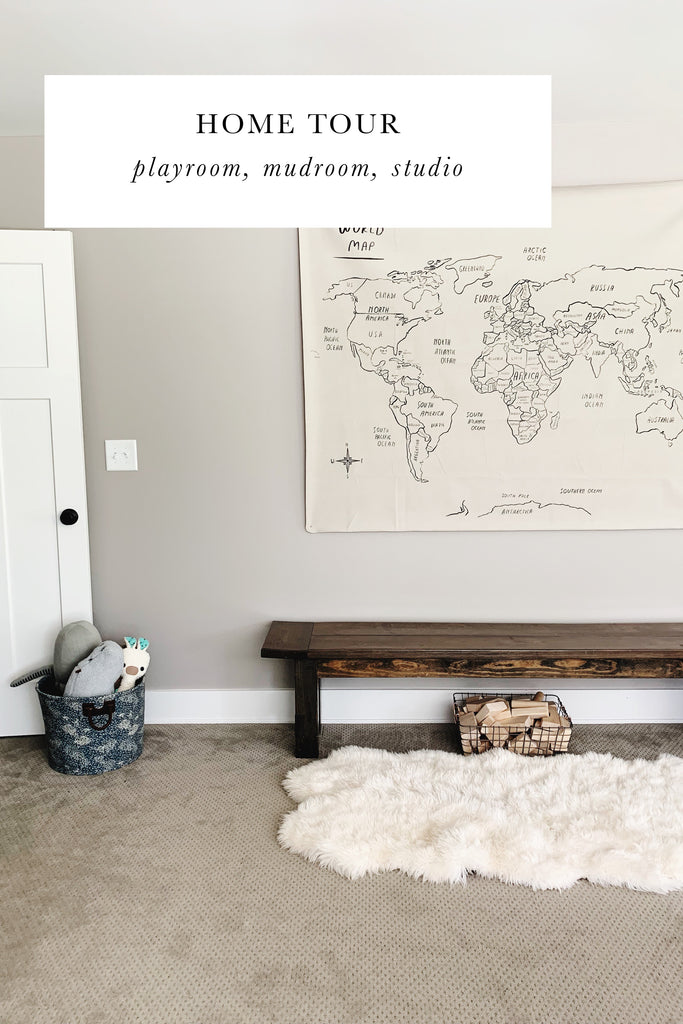 Home Tour: Playroom, Mudroom, and Studio