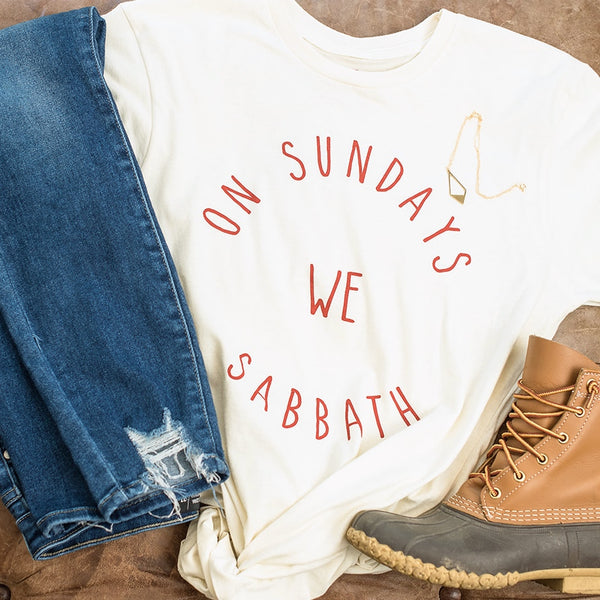 ON SUNDAYS TEE · MARK 2:27