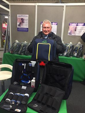 At Your Horse Live, we've even got a happy Geoff Billington on board, he's got his grab & go backpack fully kitted out ready for his lorry!