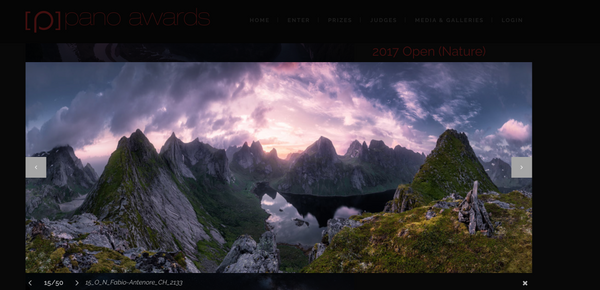 Gold Medal at Epson Pano Award 2017