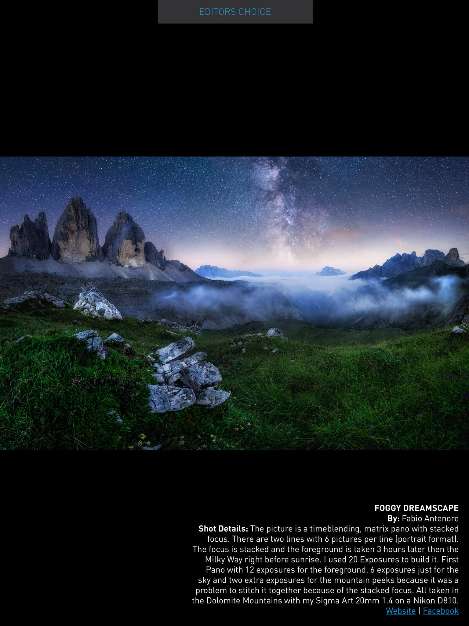 Editors Choice in Photography Masterclass Magazin 2017