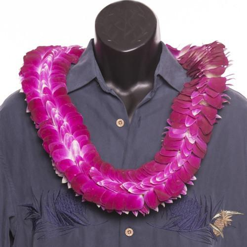 Ali'i Flat Orchid Lei - Leilanis Leis