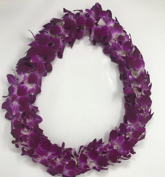 Pre-Made Double Orchid Lei - Leilanis Leis