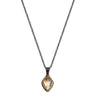 Herkimer Diamond + 22k Gold Glacier Necklace