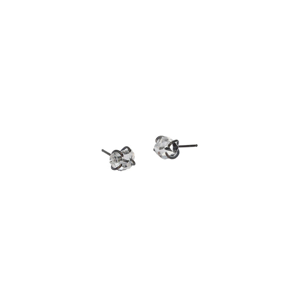 Herkimer Diamond Stud Earrings in Sterling Silver