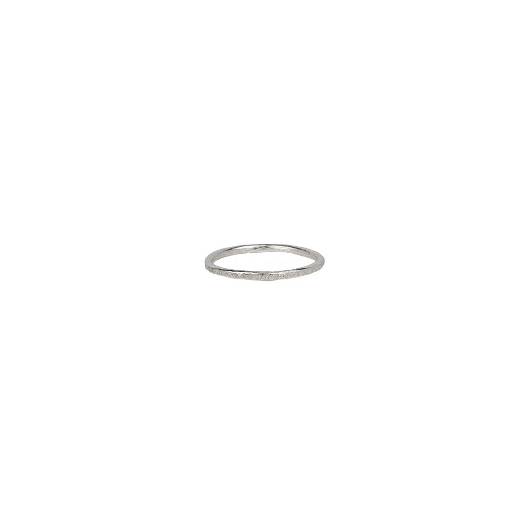 Textured Stacking Ring in Silver