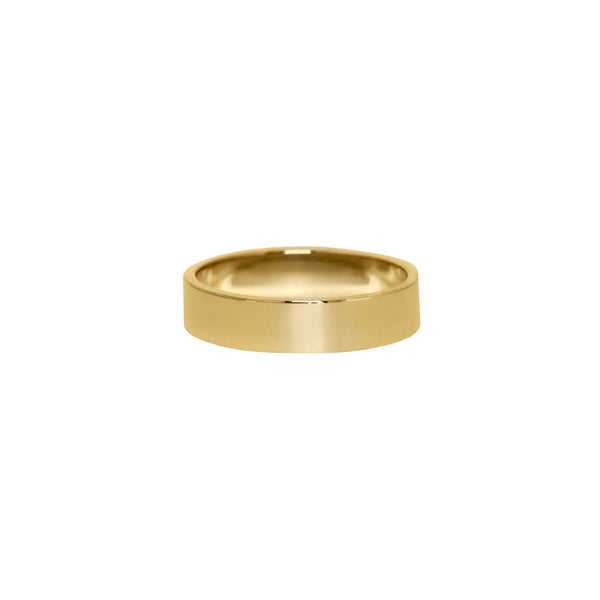Classic Flat Band in 14k Gold - 5mm