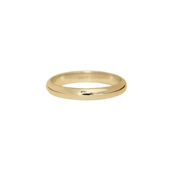 Classic Half Round Band in 14k Gold - 3mm