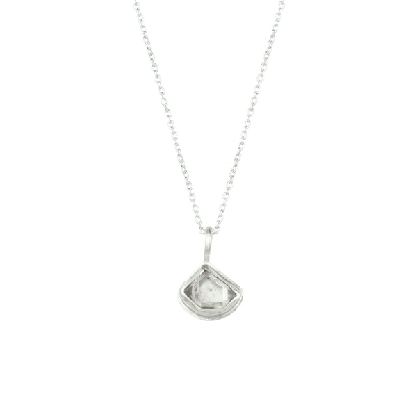 Herkimer Diamond + Sterling Silver Glacier Necklace