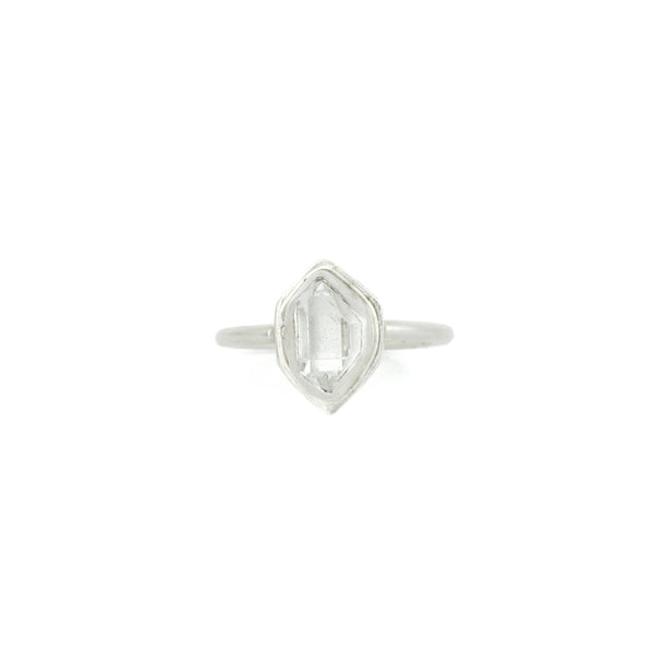 Herkimer Diamond + Sterling Silver Glacier Ring