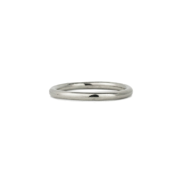 Classic Half Round Band in 14k Gold - 2mm