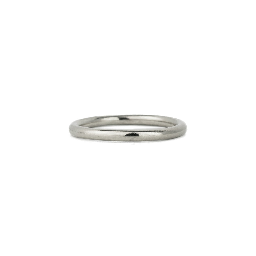 Classic Half Round Band in Sterling Silver