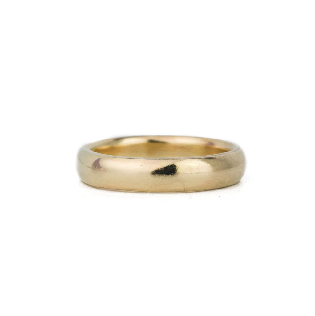 Classic Half Round Band in 14k Gold - 4mm