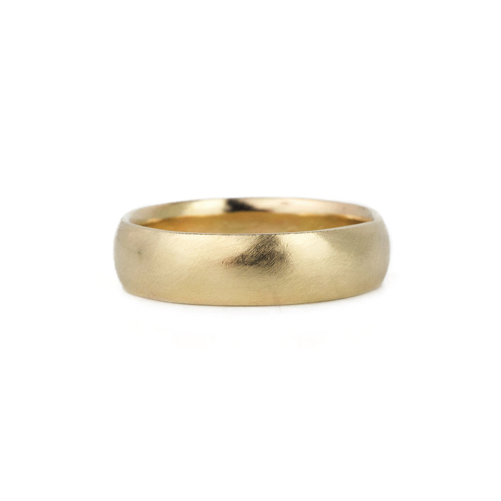 Classic Half Round Band in 14k Gold - 6mm
