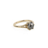 Juniper Ring - 1.62ct Hexagon Salt + Pepper Diamond in 14k Yellow Gold