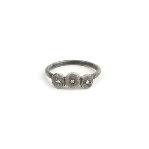 Stepping Stones Ring in Silver