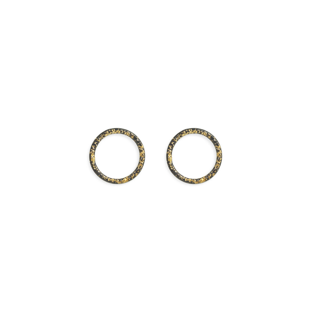 Birch Open Circle Stud Earrings