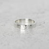 Hammered Flat Band in Sterling Silver
