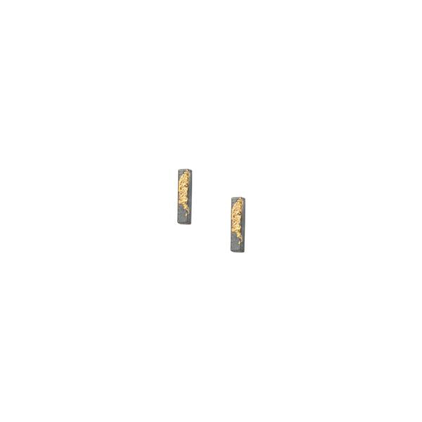 Golden Bar Earring - SINGLE stud earring