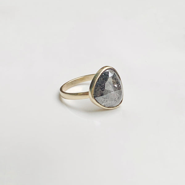 Salt + Pepper Diamond Ring No. 2