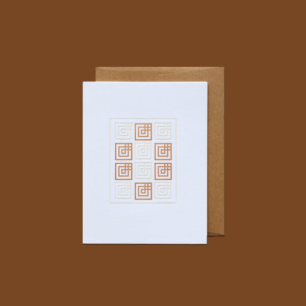 Letterpress Card - American Quilts
