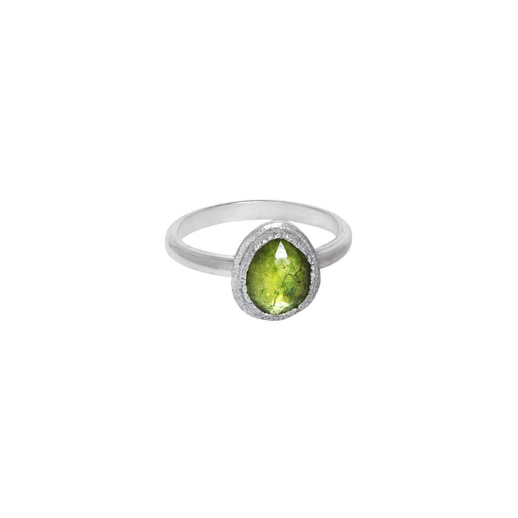 Peridot Stacking Ring in Sterling Silver No.2