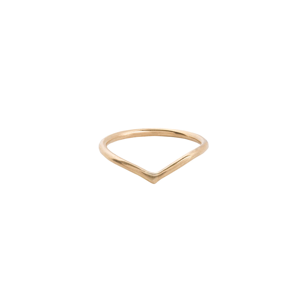 Chevron Ring in 14k Gold