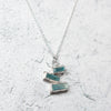 Glacier Necklace - Raw Aquamarine + Sterling Silver No. 01