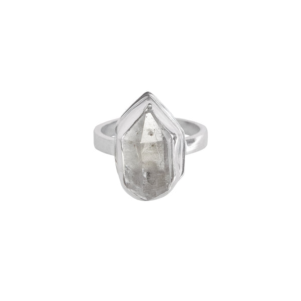 Herkimer Diamond Statement Ring in Sterling Silver No.3