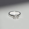 Herkimer Diamond Solitaire Ring in Sterling Silver