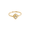 Mini Herkimer Diamond Glacier Ring in 14k Gold