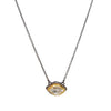 Herkimer Diamond East-West Glacier Necklace in 22k Gold + Sterling Silver