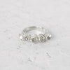 Five-Stone Herkimer Diamond Band in Sterling Silver