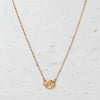 Mini Herkimer Diamond East-West Glacier Necklace in 14k Gold