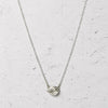 Mini Herkimer Diamond East-West Glacier Necklace in Sterling Silver