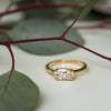 Oak Ring - 1.06 Vintage Moval Diamond in 14k Yellow Gold